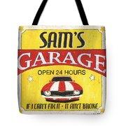 Sam's Garage Tote Bag