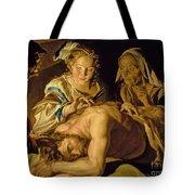 Samson And Delilah Tote Bag