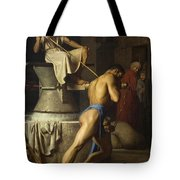 Samson And The Philistines Tote Bag