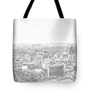 San Antonio Downtown Lineart Tote Bag
