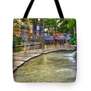 San Antonio Riverwalk Slomo Tote Bag