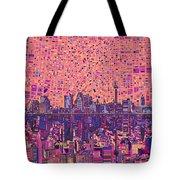 San Antonio Skyline Abstract 5 Tote Bag
