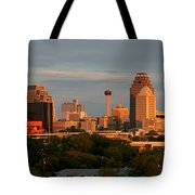 San Antonio - Skyline At Sunset Tote Bag