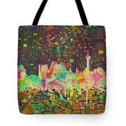 San Antonio Skyline Watercolor 5 Tote Bag