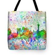 San Antonio Skyline Watercolor 6 Tote Bag