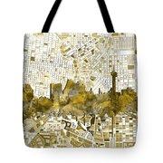 San Antonio Skyline Watercolor 7 Tote Bag