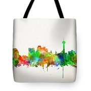 San Antonio Skyline Watercolor Tote Bag