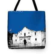 San Antonio The Alamo - Royal Blue Tote Bag