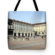 San Carlo Square In Turin Tote Bag