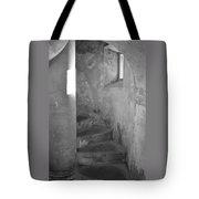 San Christobal Staircase- Black And White Tote Bag