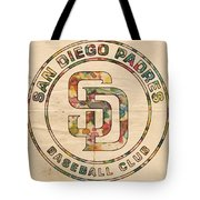 San Diego Padres Logo Art Tote Bag