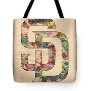San Diego Padres Logo Vintage Tote Bag