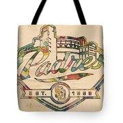 San Diego Padres Memorabilia Tote Bag
