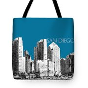 San Diego Skyline 1 - Steel Tote Bag