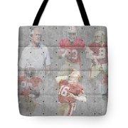 San Francisco 49ers Legends Tote Bag