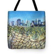 San Francisco And Flowery Vagabond Path Of Yesterday Tote Bag