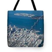 San Francisco Bay Bridge Aerial Photograph Tote Bag