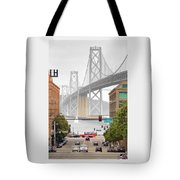 San Francisco Bay Bridge And Bay Quackers Tote Bag
