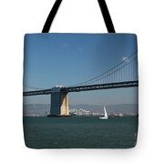 San Francisco Bay Bridge West Span Vii Tote Bag by Suzanne Gaff