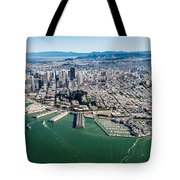 San Francisco Bay Piers Aloft Tote Bag