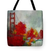 San Francisco City Collage Tote Bag