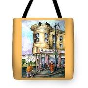 San Francisco North Beach - Watercolor Art Tote Bag