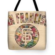 San Francisco Giants Logo Vintage Tote Bag