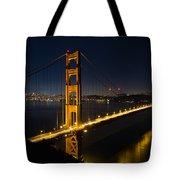 San Francisco Golden Gate Bridge At Blue Hour Tote Bag