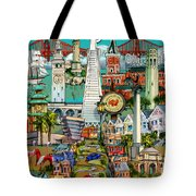 San Francisco Illustration Tote Bag