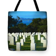 San Francisco National Cemetery In El Presidio Tote Bag