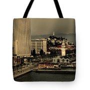 San Francisco Pier From The Bridge Tote Bag