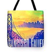San Francisco Postcard Tote Bag