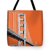 San Francisco Skyline Golden Gate Bridge 2 - Coral Tote Bag