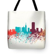 San Francisco Skyline Paint Tote Bag