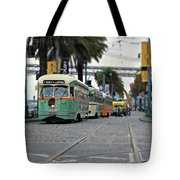 San Francisco Trolleys Tote Bag