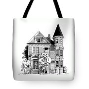 San Francisco Victorian Tote Bag by Mary Palmer