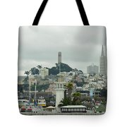 San Francisco View From Fishermans Wharf Tote Bag