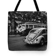 San Francisco Vintage Scene Tote Bag