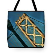 San Francisico Bay Bridge And Light Tote Bag