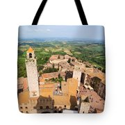 San Gimignano From The Top Of A Tower Tote Bag