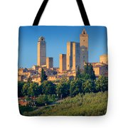 San Gimignano Skyline Tote Bag by Inge Johnsson