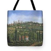 San Gimignano Tuscany Tote Bag by Richard Harpum