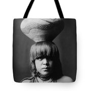 San Ildefonso Girl Circa 1927 Tote Bag by Aged Pixel