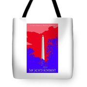San Jacinto Monument Red White Blue Tote Bag