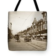 94-095-0001 Early Knox Automobile First Street San Jose California Circa 1905 Tote Bag