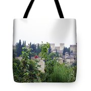 San Nicolas View Of The Alhambra On A Rainy Day - Granada - Spain - Spain Tote Bag