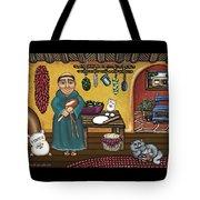 San Pascuals Kitchen Tote Bag by Victoria De Almeida