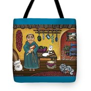 San Pascuals Kitchen Tote Bag by Victoria De Almeida