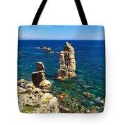 San Pietro Island - Le Colonne Cliff Tote Bag