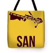 San San Diego Airport Poster 1 Tote Bag